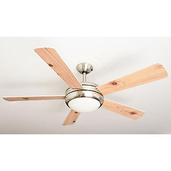 Ceiling Fan Ursa White & Pine 132cm / 52
