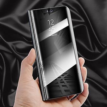 Voor Huawei honor 10 duidelijk zicht spiegel spiegel slimme cover zwart case beschermhoes zakje tas zaak nieuwe zaak wake-UP functie