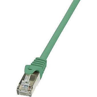 LogiLink RJ45 Networks Cable CAT 5e F/UTP 5 m Green incl. detent