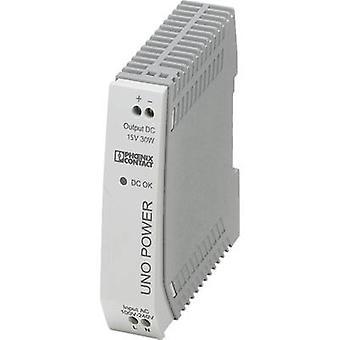 Rail mounted PSU (DIN) Phoenix Contact UNO-PS/1AC/15DC/30W 15 Vdc 2 A 30 W 1 x