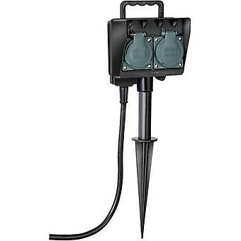 Brennenstuhl 1154430 Weatherproof socket strip 2x Black, Green