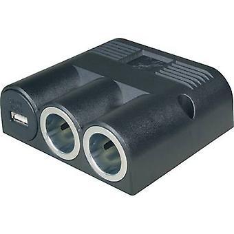 12V i-bil Splittra No. 12V kontakter 2 x gränssnitt: USB 1 x Max. lastkapacitet 16 A ProCar 67334501 67334500