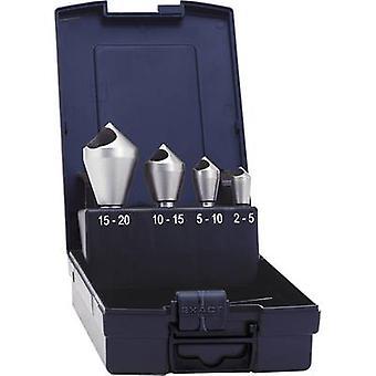 Diagonal hole countersink set 4-piece 10 mm, 14 mm, 21 mm, 28 mm HSS-E