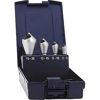 Avellanado del orificio diagonal set 4 piezas 10 mm, 14 mm, 21 mm, 28 mm HSS-E