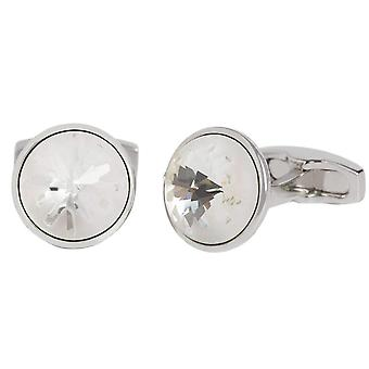 Simon Carter Swarovski Sea Urchin Cufflinks - White/Silver