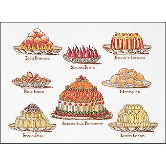 Sweet Dishes On Aida Counted Cross Stitch Kit-15.25