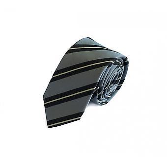 Hals slips halsduk band Binder 6cm svart silvrig stripe Fabio Farini