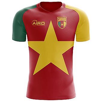 2018-2019 Kameruns flagg konseptet fotball skjorte (barn)