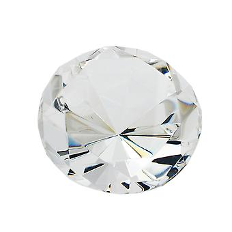 Glass block shape diamond, crystal clear