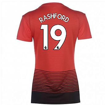 2018-2019 man Utd Adidas Womens Accueil Shirt (roseau 19)