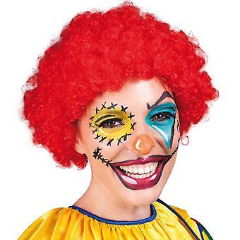 Hair Perücke Afro Locken Rot