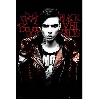 Black Veil Brides Solo Blood Poster Poster Print