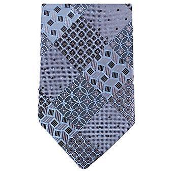 Knightsbridge Neckwear Multi Pattern Floral Tie - Grey