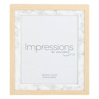 Juliana Impressions Wood Marble Effect Photo Frame 8x10 - Light Brown