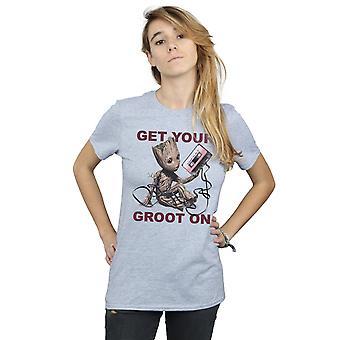 Marvel Frauen Guardians of the Galaxy bekommen Ihre Groot auf Freund Fit T-Shirt