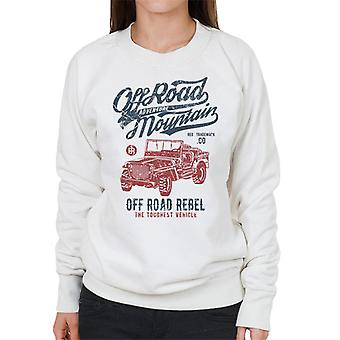 Vintage Off Road bjerg Jeep kvinders Sweatshirt