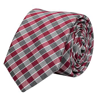 Fabio Farini blanc gris cravate rouge de Plaid, cravate, cravates, cravate, 8 cm,