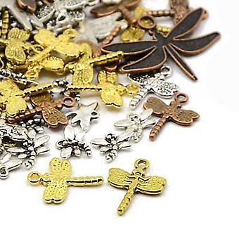 حزمة 30 غراما رسوماً في التبت 5-40 ملم اليعسوب سحر/قلادة ميكس HA07345