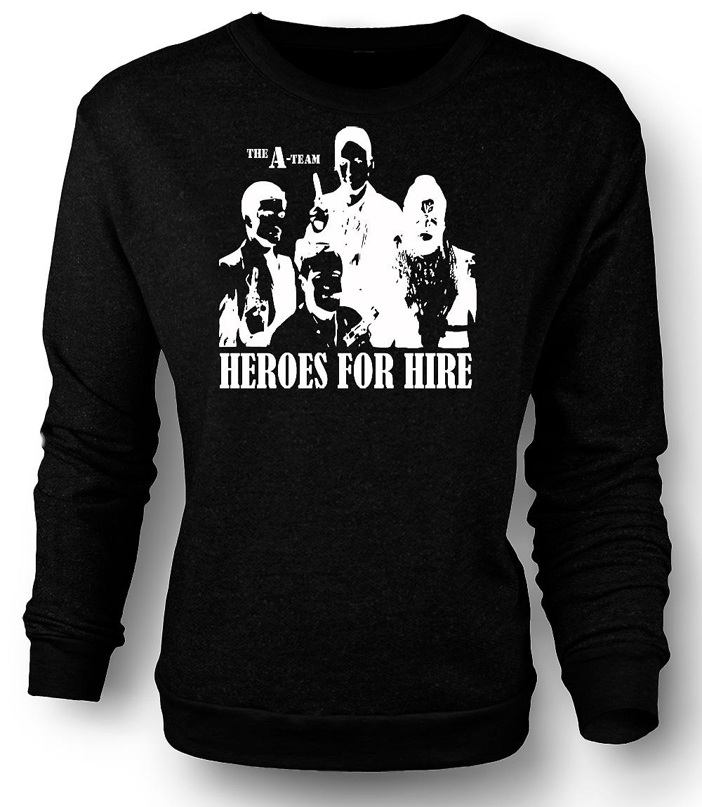 Mens Sweatshirt A Team Heroes - Retro - Movie 0s - Tv