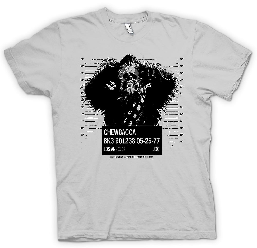 Mens T-shirt - Chewbacca Mug Shot - Star Wars