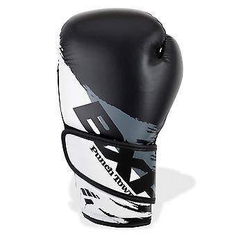 PunchTown BXR KR Boxing Gloves Black/White