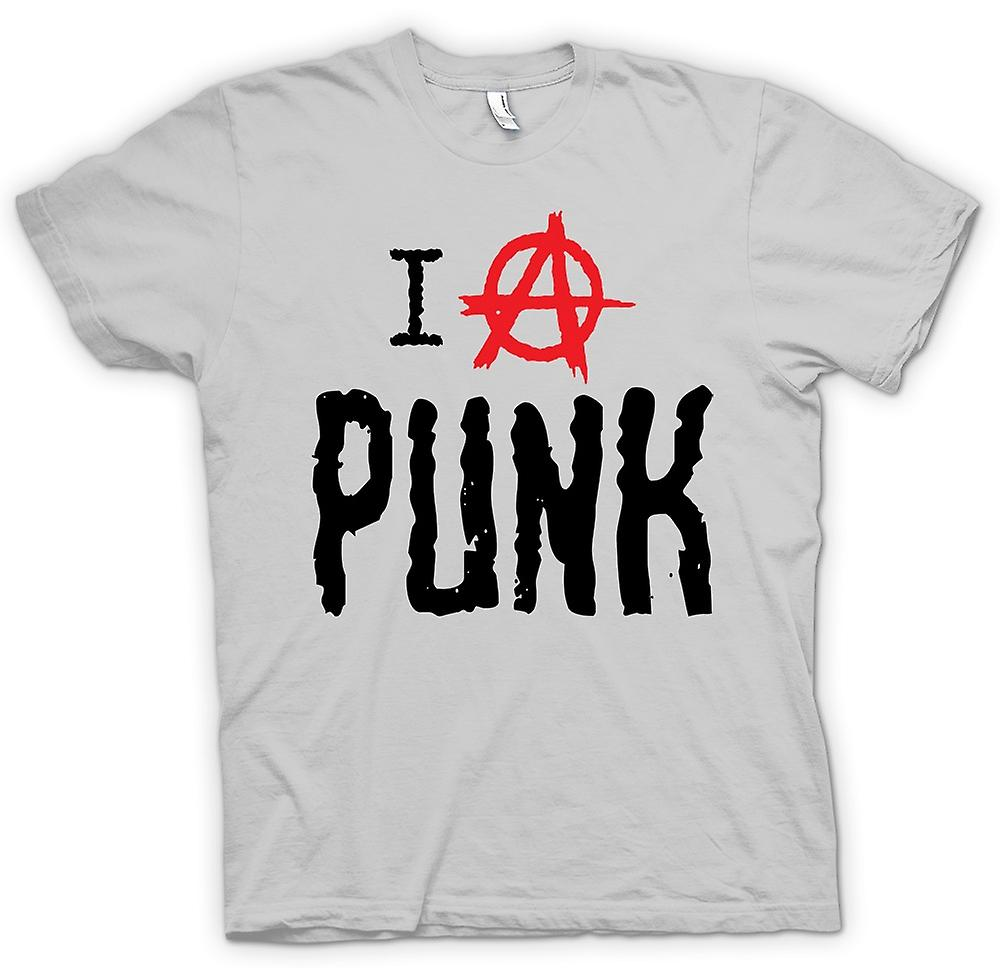Mens T-shirt - I Love Punk - Funny