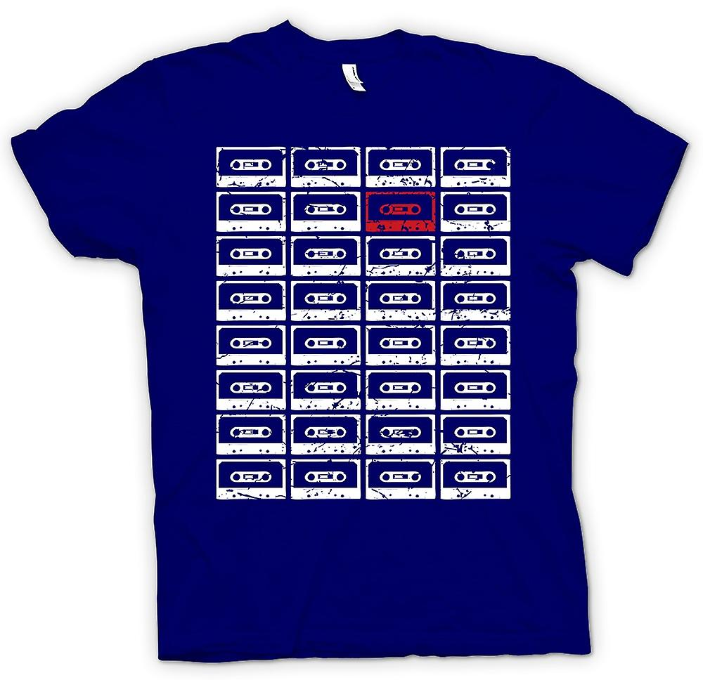 Heren T-shirt - Old School Tapes - Retro