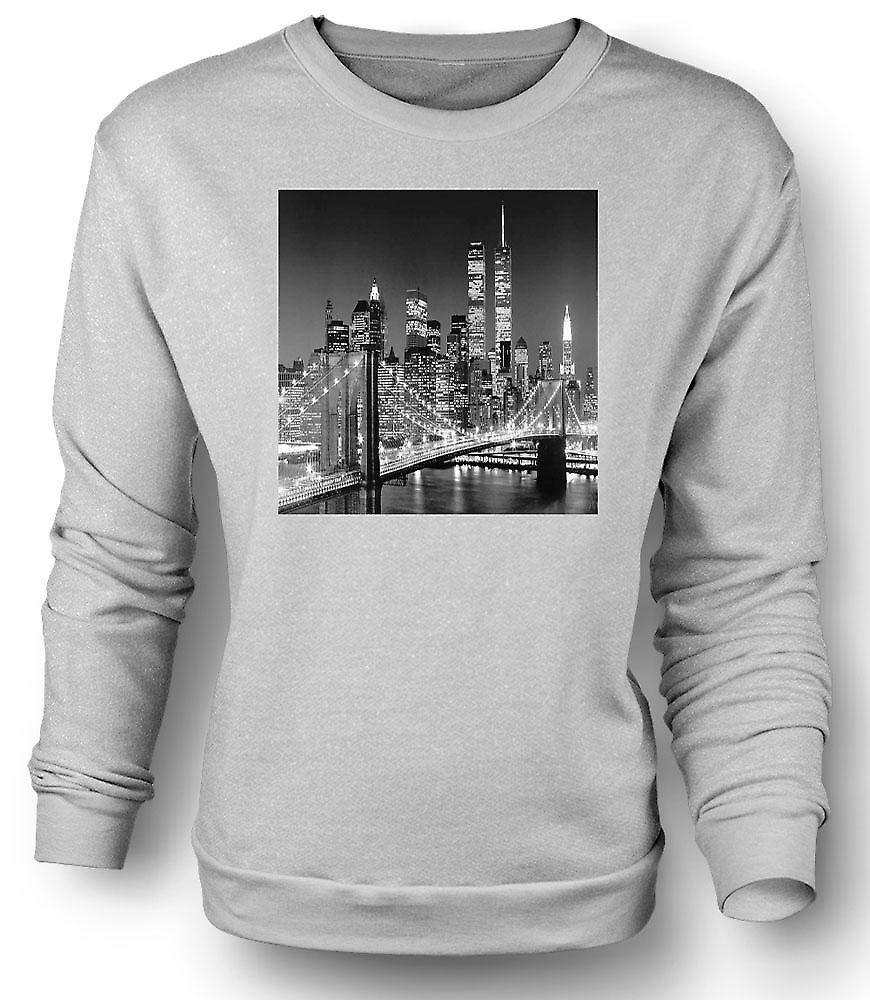 Mens Sweatshirt New York Sky Line - Twin Towers