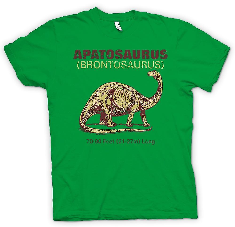 Mens T-shirt-Apatosaurus Brontosaurus cooles Dinousaur Design