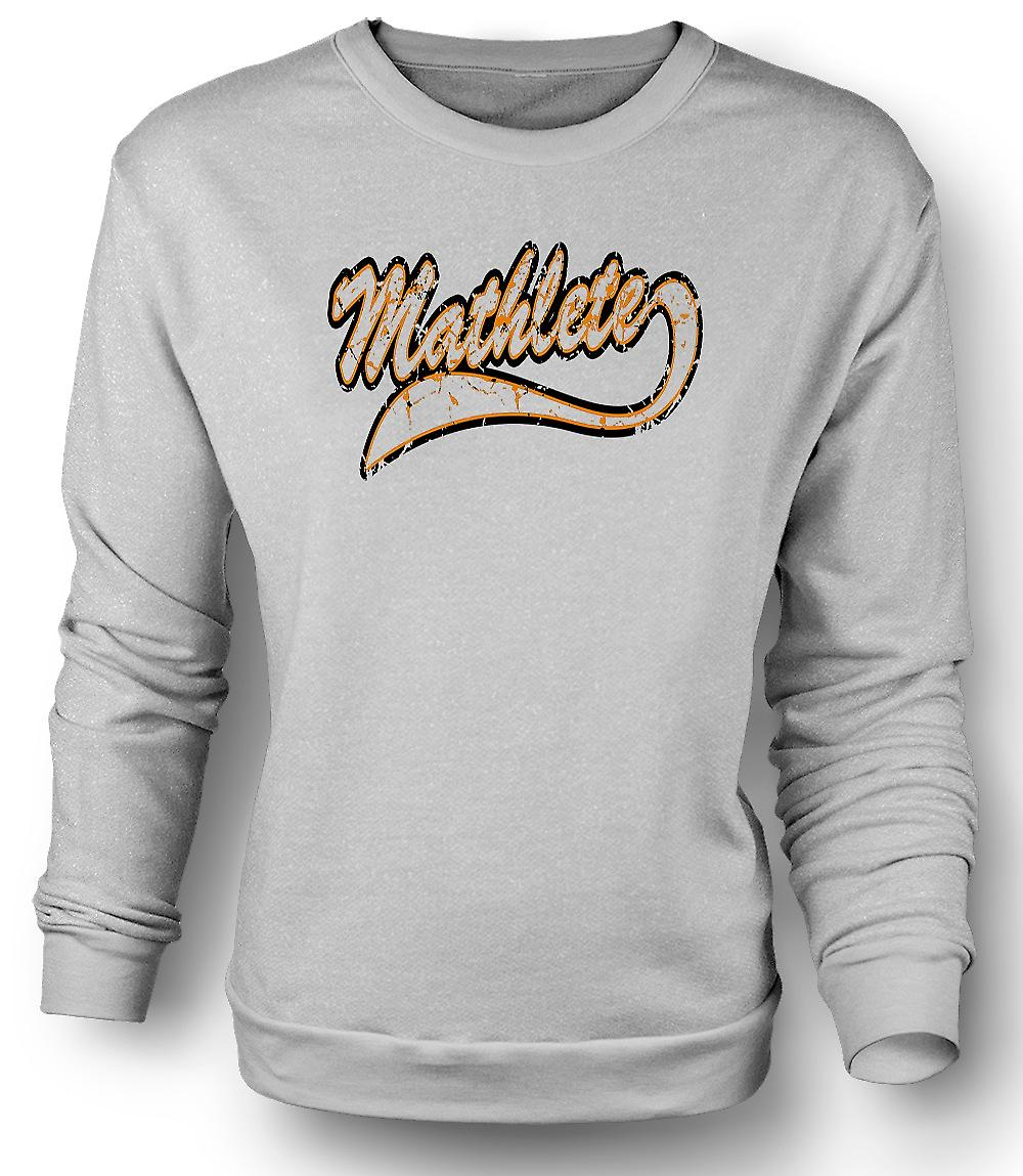 Mens Sweatshirt Mathlete Maths - Funny
