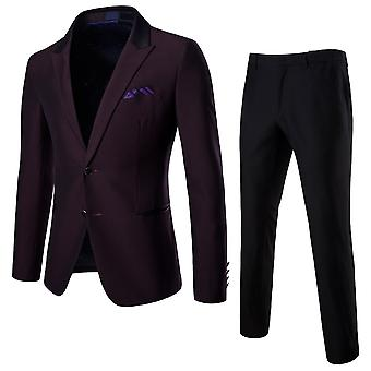 Cloudstyle Men's Suit Two-Piece Formal Wedding Suit
