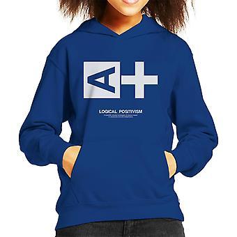 Logical Positivism Philosophy Symbol Kid's Hooded Sweatshirt