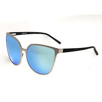 Bertha Ophelia Polarized Sunglasses - Silver/Blue-Green