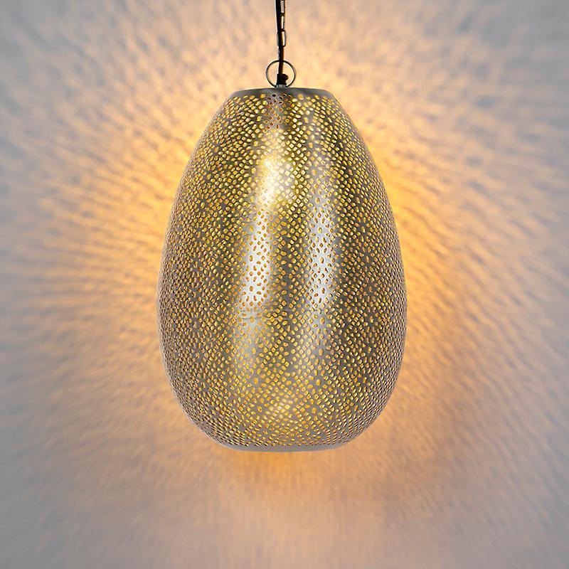 QAZQA Oriental Pendant Lamp Steel - Sinbad 1