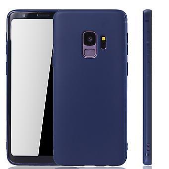 Samsung Galaxy S9 mobile logement Schutzcase couverture arrière sac housse Etui bleu