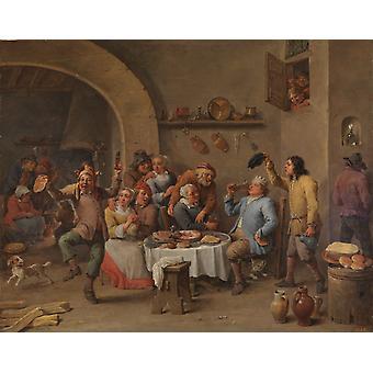 Twelfth Night,David Teniers the Younger,50x40cm