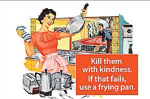 Kill Them With Kindness... funny fridge magnet