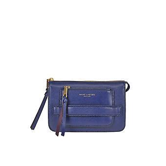 مارك جاكوبس الأزرق الجلود حقيبة تحمل على الكتف