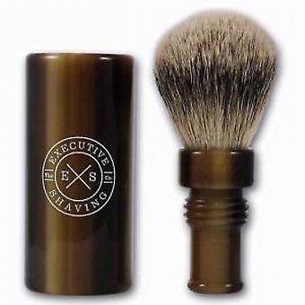 Executive Shaving Silvertip Turnback Travel Shaving Brush - Horn