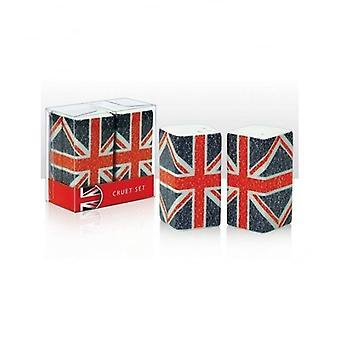 Union Jack porter ensemble de Cruet typographie Union Jack