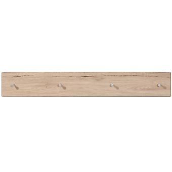 Shaker - effet bois mural 4 serviette peignoir suspendu patères - chêne