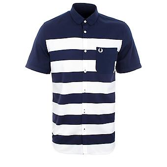 Fred Perry Pique Stripe Men's Short Sleeve Shirt M6705-226