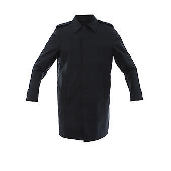 Corneliani Blue Polyester Trench Coat