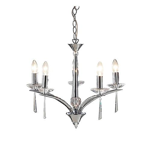 Dar HYP0550 Hyperion Contemporary 5 Arm Ceiling Pendant Dual Mount