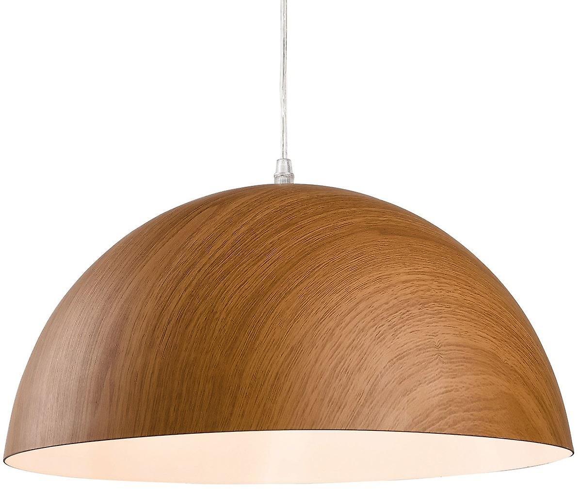Firstlumière - 1 lumière Ceiling pendentif marron bois - 3443
