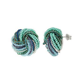 Eternal Collection Maris Murano Glass Torsade Pierced Earrings