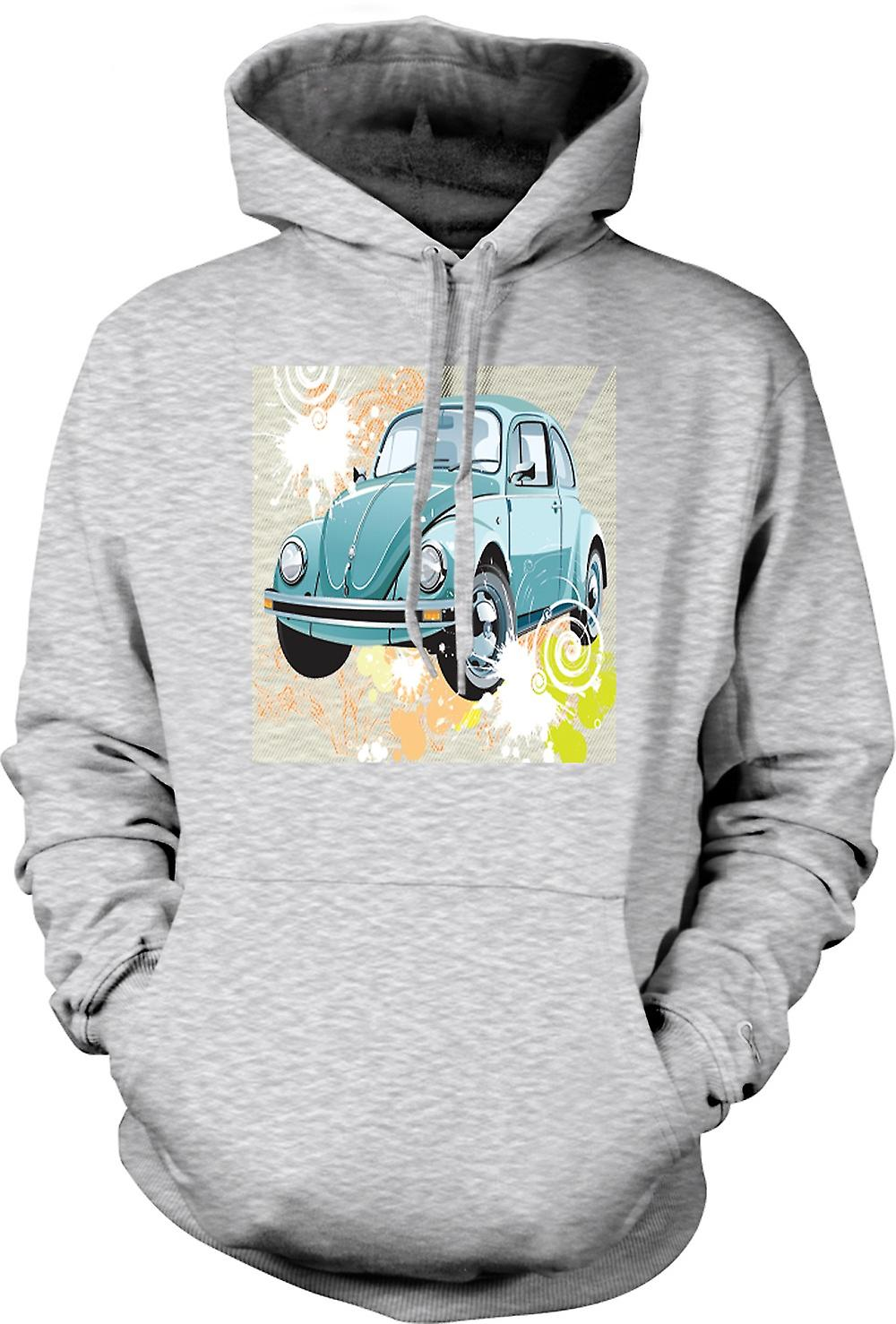 Mens Hoodie - VW Beetle - Pop Art