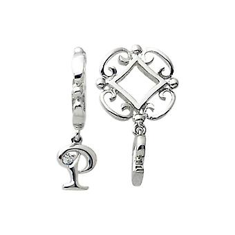 Storywheels Silver P Initial Dangle Charm S215D