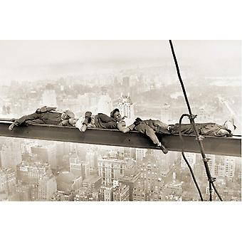 Affisch-Studio B-24x36 sova ovanför Manhattan Wall Art CJ1319