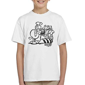 Grimmy og Attila joke Kid's T-shirt